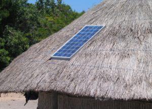 solar panel on hut
